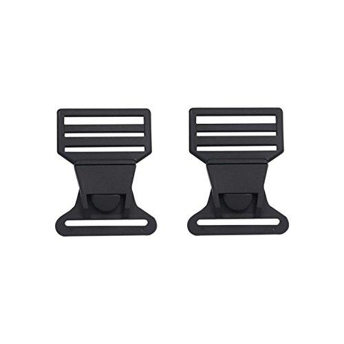 Plactic Seite Release schwarz Schnalle Schnell seitliche Schnalle für Rucksack Gepäck 6Stück, schwarz, 40 mm (Release Schnalle Kragen)