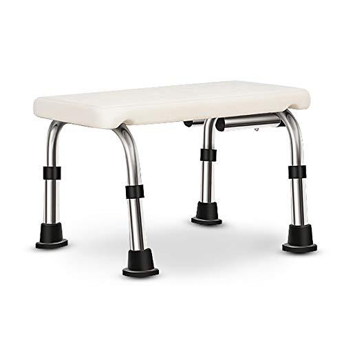 HYYDZ Duschhocker Duschsitz Höhenverstellbar rutschfest Mit Arm- Und Rückenlehne Für Schwangere Behinderte Senioren,B -