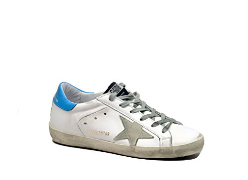Golden Goose , Damen Sneaker White blue ice star 38 (Leder Goose)