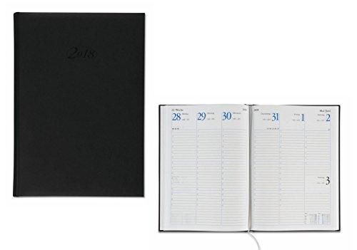 Wochenplaner 2018 / Buchkalender / Größe: 17,2x24cm / Farbe: schwarz