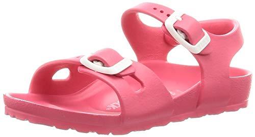 BIRKENSTOCK Mädchen Rio Knöchelriemchen Sandalen, Pink (Coral Coral), 28 EU