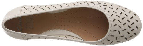 Clarks Henderson Silk, Scarpe da Ballo Donna bianco (Blanc (Cotton Leather))
