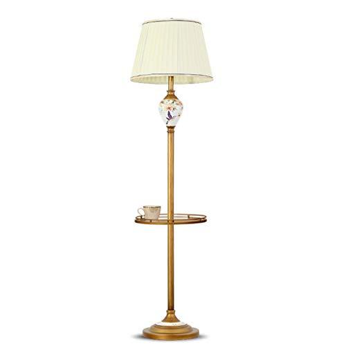 Hohe Kommerzielle Regale (SMQ Wohnzimmer mit Regal Lampe Fußpedal Schlafzimmer Nachttisch hohe Tischlampe Einfache Stehleuchte (Color : B))