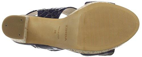 Zinda - 2090, Sandali con platea Donna Blu (Blu navy)