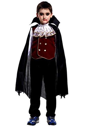 (Fledermaus Kostüm Jungen für Halloween Kinder Vampire Bat Flügel Karneval Fasching Kleid Costumes Verkleidung Outfit Fledermausflügel Oberteile/Hosen / Umhang)