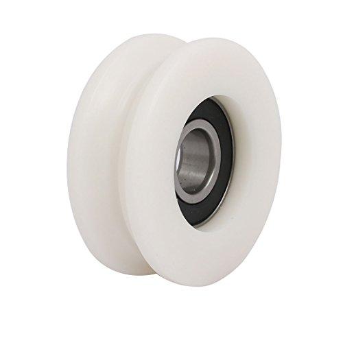 Aexit 15mmx59mmx22mm U Groove Bearing Pulley scorrevole per porta scorrevole in vetro bianco ID: 792099