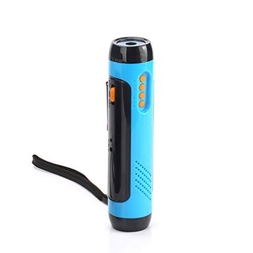 Alarm Handheld Radio (Fatchot Alarm FM Radio Handy Aufladung Handbetrieb Power Generat LE Einstellbarer Fokus LED Taschenlampe Super Hell Zoomable Handlampe Taschenlampe, blau, 15 * 5)