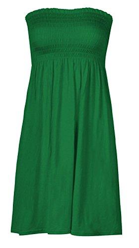 Mélange de lot nouvelles femmes fin bandeau sans bretelles haut/sans manche haut uni femme sexy robe de plage été haut s m grande taille décontracté taille 8-22 - green top
