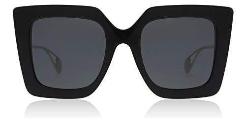 Gucci GG0435S 001 Black GG0435S Square Sunglasses Lens Category 3 Size 51mm