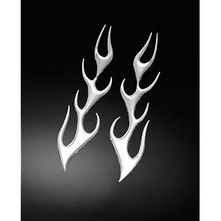 3-D STICKER, FLAME MEDIUM L + R