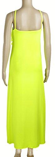 Wenseny Damen Kleider Elegante Rückenfrei Ärmellos Spitzen Maxi Sommerkleid AbendKleid Grün