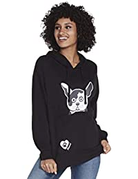 Skechers Damen Bobs for Dogs and Cats Pouch Pullover Hooded Sweatshirt Kapuzenpulli