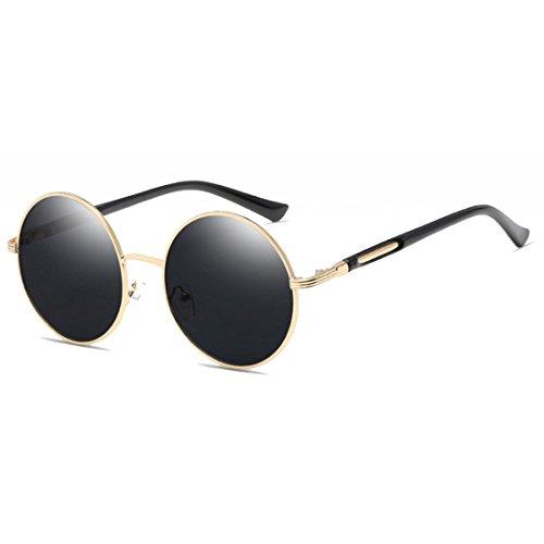 Yefree Damenbrille Vintage Retro Metall Runde Kreis Rahmen Sonnenbrille