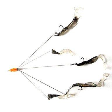 Ty 1Angelköder 5-armig Alabama Rig Umbrella Rig harter Köder Frisch Wasser Shallow Water Bass Glasaugenbarsch Crappie Minnow Fishing Tackle (zufällige Farbe)