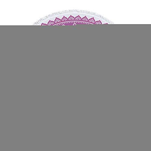 SUYUN Runde Strandtuch Yoga Matte mit Quaste Bedruckt Badetuch -07 150 * 150cm - Ultra-sensitiv-system