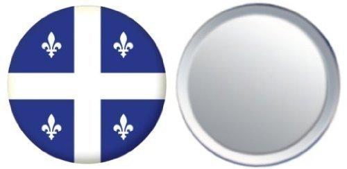 Miroir insigne de bouton Canada Quebec drapeau - 58mm
