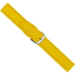 Beach Replacement Band Watch Band Leather Kalf yellow 20441S, width:28mm