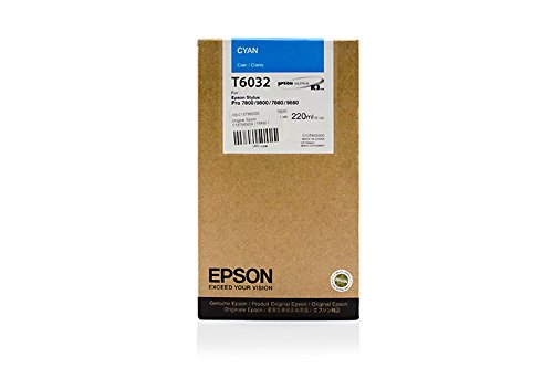 Epson Stylus Pro 9800 Xrite Eye One - Original Epson C13T563200 / T5632 / Stylus Pro7800 Cyan Tinte - 220 ml -