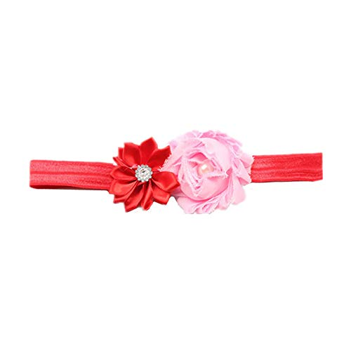 Ao Tuo Flowers Headbands for Baby Girl Pearl Infant Ribbon Hairband Cloth Headdress Bow Lace Band Childrens Place Jeans