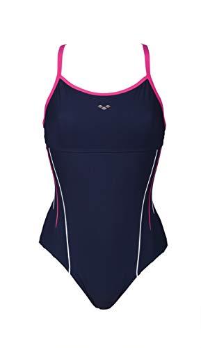 arena W Zircon Flow Back, Bodylift Damen, Damen, 001262, Navy/Rose Violet/Bianco, 44