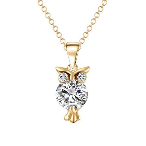 Halskette mit Eulen-Anhänger, lang, schicker Stil, Schmuck, für Frauen, mit Kette für Frauen, 45,7 cm, Muttertagsgeschenk