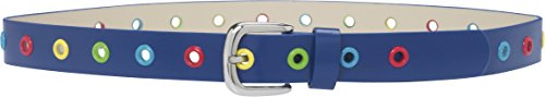 Playshoes Unisex Gürtel Stylischer Kindergürtel mit bunten Ösen, Gr. 75 cm, Blau (marine 11)