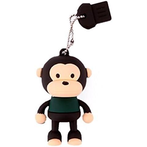 Ciplak® sveglio divertente dei bambini di età regalo per il suo Lui 8GB di memoria della penna del bastone Flash Drive - nero scimmia