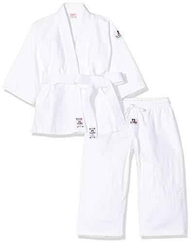 DANRHO, Judogi Bambino Yamanashi, Bianco (Weiß), 110 cm