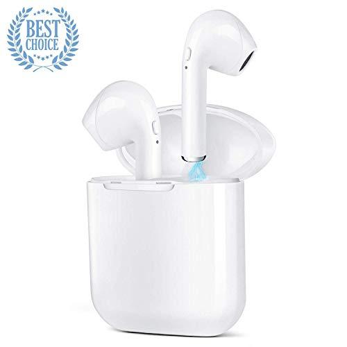 Auricolari Bluetooth,Wireless Cuffie Sport Bluetooth Mini Stereo Cuffie Wireless Senza Fili con Stazione di Ricarica Auricolare Bluetooth per Samsung, Apple, Android e Altri Smartphone