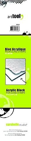 Carabelle Studio AB0630 Bloc Acrylique pour Tampons Scrap Edge Transparent 29 x 6 x 0,5 cm