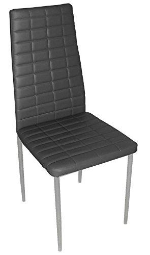 Chaise longue de salon en PU coloris noir, 500 x 415 x 950 mm -PEGANE-