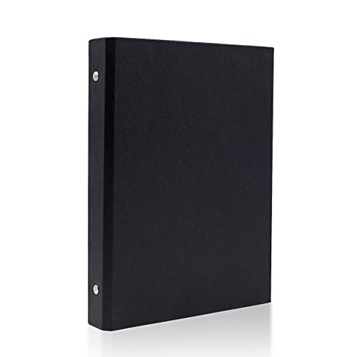 A5–6 Löcher Papier Planer Notebook Cover, Ring Binder Black A5-6 Holes schwarz