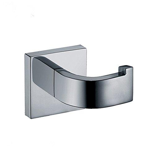 Aothpher 304 Edelstahl verchromt Handtuchhaken, Modern Chrom Handtuch Robe Luxus Quadrat Badezimmer Zubehör … (Badezimmer Hardware Zubehör)
