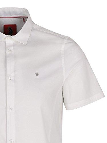 Luke 1977 Connors Pencil Short Sleeve Shirt Weiß