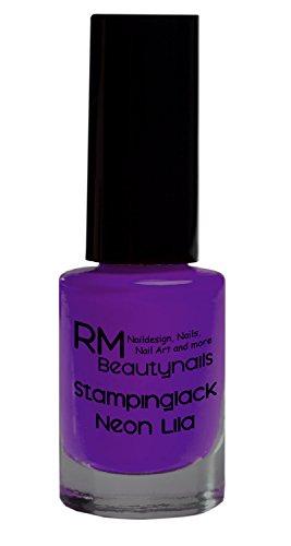 Stampinglack Neon Lila 4ml Stamping Lack Nagellack Nail Polish RM Beautynails