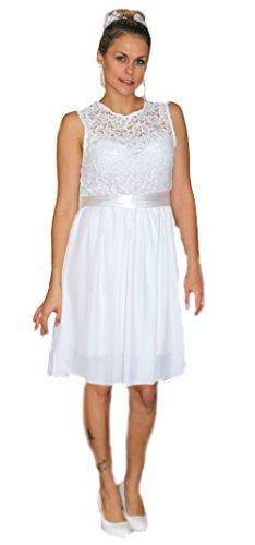 Unbekannt Brautkleid Spitze kurz Hochzeitskleid S M L XL XXL XXXL XXXXL Braut Kleid Standesamt Weiß...