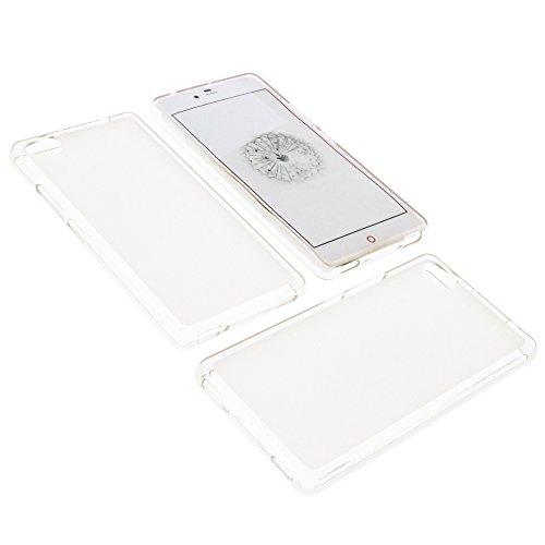 foto-kontor Tasche für ZTE Nubia Z9 Mini Gummi TPU Schutz Handytasche milchig transparent
