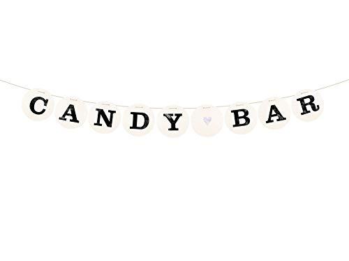 renna deluxe Candy BAR Girlande für die Hochzeit Hochzeitsgirlande für Hochzeit-Shooting Dekoration Hochzeitsdeko Sweettable Donutwall (Silber)