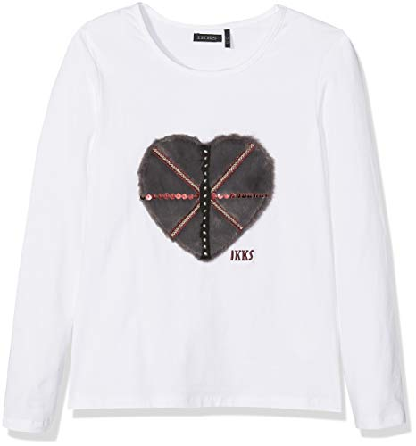 IKKS Junior Tee Shirt Manches Longues, Fille, Ecru (Blanc cassé 19), 10 Ans (Taille Fabricant: 10A)