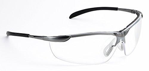 Univet 557 Metallrahmen Wrap around Schutzbrille mit klaren Gläsern