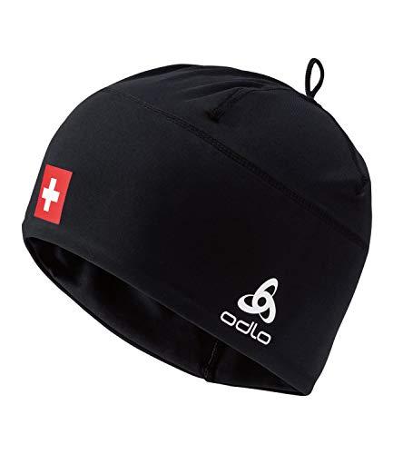 Odlo Hat Hat Polyknit Fan WARM Mütze, Swissski Black