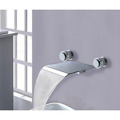 ALUK-due maniglie diffuso mixer cascata lavandino nave rubinetto vasca da rubinetti romana rubinetto lavabo (2 Maniglia Vasca Romana)
