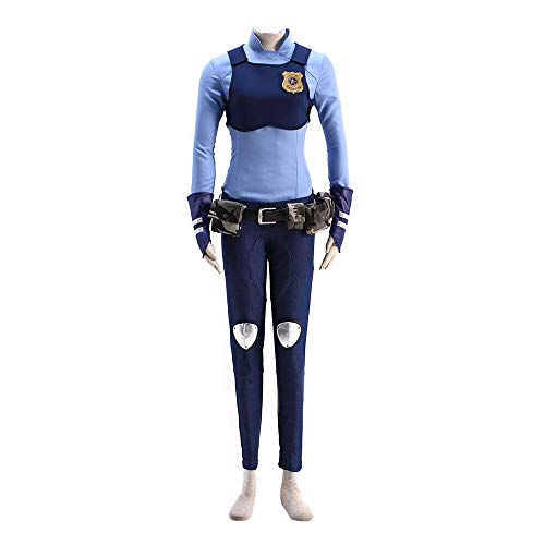Dream2Reality Zootopia Cosplay Kostuem Judy Hopps Ver.1 Police Uniform Kid (Weibliche Videospiel Kostüme)
