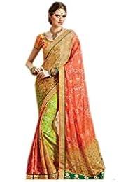 Mantra Fashions Women's Georgette Saree (Mant11_Multi)