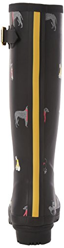 Tom Joule - Welly Print, Stivali di gomma Donna Schwarz (Black Chic Dogs)