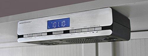 woerlt Electronic UR 2006–Radio de cocina con radio reloj controlado por radio, accesorio para artículo de, plata