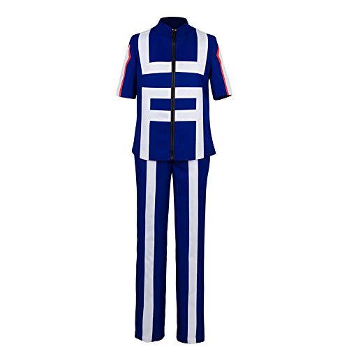 Kostüm L'rain - RAIN My Hero Academia Izuku Midoriya Mantel Hose Cosplay Kostüm - Mehrfarbig - Large