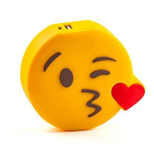 SPRALLA Smiley Banque de Puissance Baiser et coup de coeur 2600 mAh