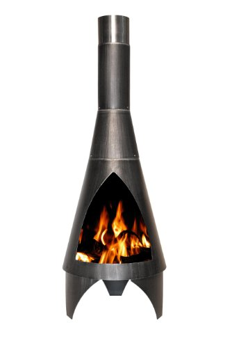 Feuerstelle / Terrassenofen Buschbeck Colorado Stahl schwarz Ø45x125cm