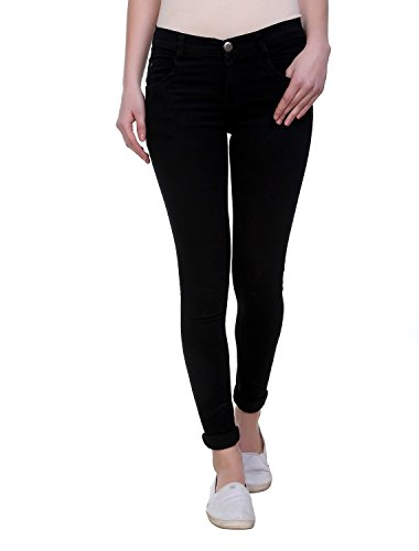Pantoff Women's Slim Fit Black Jeans 10